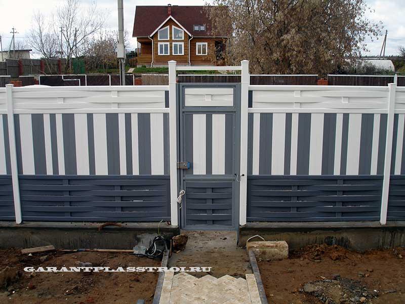 Забор и ворота из ПВХ доски