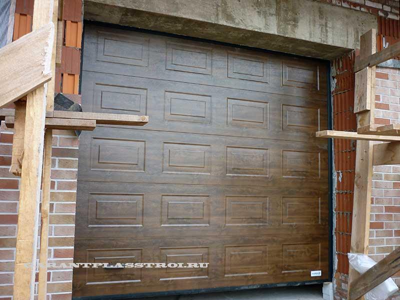 Секционные ворота для дома